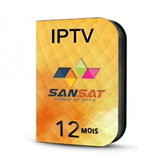 IPTV SANSAT 12 mois