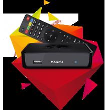 Mag254 + Abonnement IPTV 12 mois FULLHD.