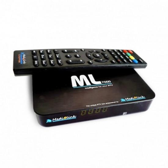 MEDIALINK ML7000 IPTV H265 + 12 mois IPTV