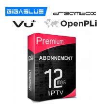 Premium IPTV VU+ enigma2 & VOD Full HD 12 mois.