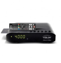 VISION Clever 4 + Abonements Smart IPTV [H265] & Satellite et VOD 12 Mois