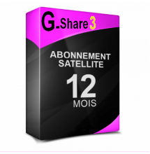 Abonnement G-share 3 starsat Pinacle Geant 12 mois