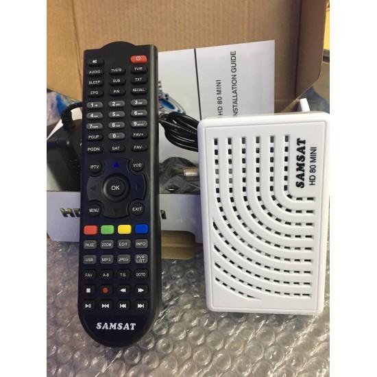 Récepteur Samsat HD 80MINI + 12 Mois STARCAM/ 12Mois IPTV SMART PLUS