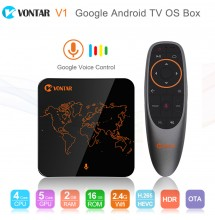 VONTAR V1 Google Voice Control Smart TV BOX Android 7.1 2GB 16GB