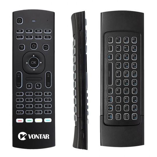 Télécommande clavier sans fil Rétro-Éclairé pour TV, box android, PC.
