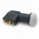 Quad LNB Sat Digital HD 01 dB vergoldet 3D Wetterschutz Lmb 4 Teilnehmer 4K TV