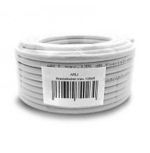 Kabel 135dB HD Sat 50m Koaxial Koax CSS Stahl Kupfer Digital Antennen TV 4K ARLI