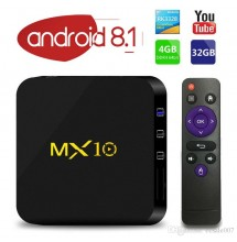 Box MX10 Android 8.1 RK3328 4G 32G + abonnement neotv 12 mois