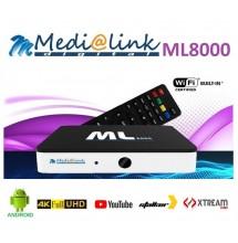 Medialink ML8000 4K Android + IPTV premium FHD 12 mois
