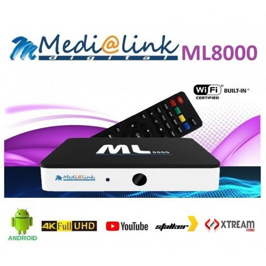 Medialink ML8000 4K Android + IPTV 12 mois