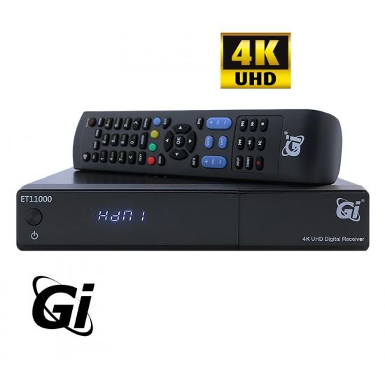 GI ET-11000 4K UHD ENIGMA2 SAT DVB-S2 OpenPLi + Oscam script 12 mois.