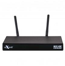 AXAS HIS COMBO 4K 1X DÉCODEUR LINUX DVB-S2 / 1X DVB-C / T2 4K UHD H.265 HEVC E2