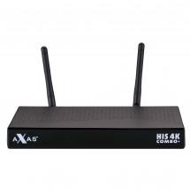 AXAS HIS 4K COMBO+ E2 LINUX UND ANDROID 1X DVB-S2 / 1X DVB-C/T2 4K UHD H.265 HEVC SET-TOP BOX