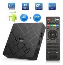 HK1 mini Android 8.1 2GB+16GB + abonnement Magnum IPTV 12 mois.
