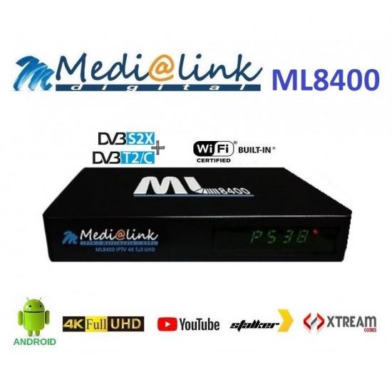 Medialink ML 8400 4K IPTV S2T2 hybrid