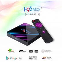 H96max Android 9.0 4k + abonnement iptv 12 mois