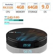 HK1 MAX Smart tv box Android 9.0 2.4G/5G + abonnement iptv 12 mois