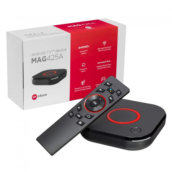 MAG 425A Android TV 8.0 4K HEVC 5G WIFI Bluetooth