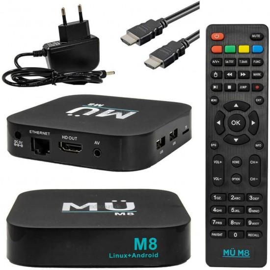 MÜ M8 4k Box + abonnement IPTV 12 mois