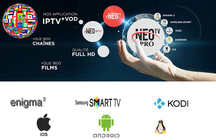 Neo tv Pro2 android 4k h265 subscription, neo tv promotion